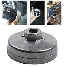 Eagles 74mm 14 Flutes Oil Filter Wrench Socket Cap Housing Removal Wrench Socket Tool Fit for Mercedes Porsche VW Audi
