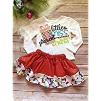 Mia Bella Girls Christmas Outfit/ Girls Boutique Clothes/ Little Miss present Shaker