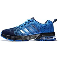 XIDISO Mens Womens Running Shoes Air Cushion Sneakers Lightweight Athletic Tennis Sport Shoe for Men.