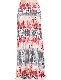 Frumos Womens Hand Craft Tie Dye Span Maxi Skirt Long Skirt