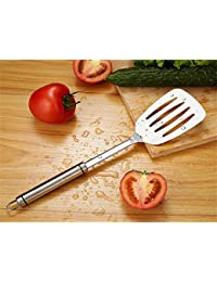 Get 18/8 Stainless Steel Kitchen Utensil Slotted Turner Polished Surface Skidproof Grip dispense