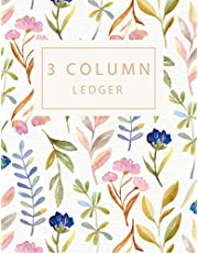 3 Column Ledger: Record Book Account Journal Book Accounting Ledger Notebook Business Bookkeeping Home Office School 8.5x11 Inches 100 Pages