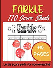 Farkle: 110 Score Sheets | Large Score Pads For Scorekeeping | 8.5*11 inches