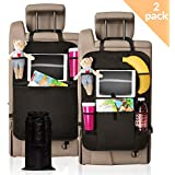 Backseat Organizer Kit by MC Optim | Car Seat Protector for Kids (2-Pack) + Car Trash Bin + eBook with Parenting Tips & Advice