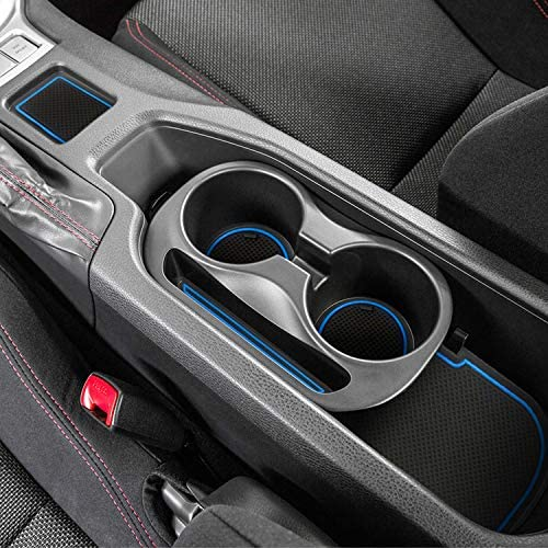 Auovo 8pcs Anti-dust Mats for Toyota 86 Subaru BRZ Scion FR-S Accessories 2020 2019 2018 2017 2016 2015 2014 2013 Door Pocket Slot Liner Pad Car Cup Holder Insert Center Console interior(8 pcs, Blue)