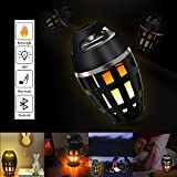 BixMe LED Flame Speakers,Torch Atmosphere Bluetooth Speakers,Outdoor Portable Speakers with Stereo Sound,LED Flickers Warm Table Lamp,TWS Supported,BT4.2 for iPhone/iPad/Android,Best Gift
