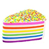 Colossal Colorful Squishy Sandwich Triangle Cake Sugar Cream Scented Bread Slow Rising Squeeze Stress Toy (Type 1)