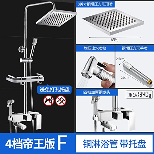 4 the Imperial Edition E NewBorn Faucet Kitchen Or Bathroom Sink Mixer Tap Rain Shower Set Full Copper Hot And Cold Taps Common Sprinkler Hose Pressure Switch Water Heater Water Mixing Valve Holding A Fourth Gear Extreme B
