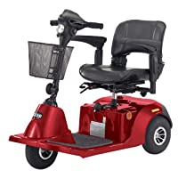 Drive Medical Daytona 3 GT Medium Sized 3 Wheel Scooter with Comfortable Padded Seat, Blue, Medium