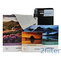 Lee Filters 67mm Landscape Starter Kit 1 - Lee Foundation Kit, 67mm Wide Angle Ring, Lee 4x6 Grad ND Soft Edge Set and 4x4 Big Stopper with 2filter cleaning kit