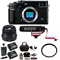 Fujifilm X-Pro2 Body + 35mm F2 R Lens (Black) w/Rode VMGO Video Mic Bundle