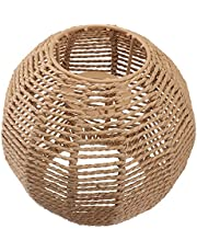 Generic Rattan Weave Hanging Lampshade Pendant Light Shade Rattan Lamp Cover Ceiling Lantern Pendant Lampshade for Kitchen Bedroom Living Room