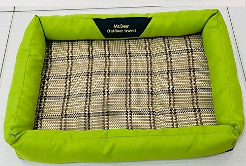 NANIH PetSuppliesMisc Breathable Pet Cooler Cold Bed Pet Cooling Mat(Green,L) for Cat Dog