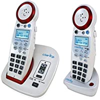 Cool Stylish Extra Loud 50dB Large Big Button Easy To Use Special Need Slim White House Wireless Phone For Low Vision Sight Visually Hard of Hearing Impaired Assisted Elderly Senior Citizen Old People
