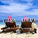 4 Pieces Beach Flamingo Towel Clips Flamingo Chair