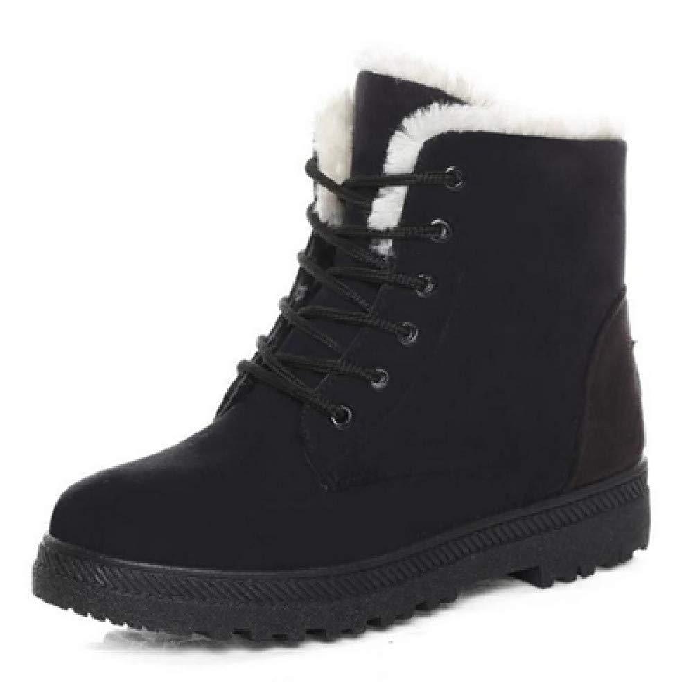 FHCGMX Künstliche Samt Freizeit Männer warme Baumwolle Schuhe Rutschfeste Winter Schnee Stiefel Herren Winter Schuhe Größe 39-40