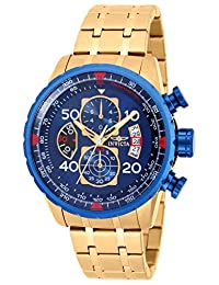 Invicta Men's 19173 Aviator Analog Display Japanese Quartz Gold Watch