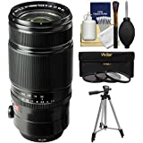 Fujifilm 50-140mm f/2.8 R LM OIS WR Zoom Lens with Tripod + 3 UV/CPL/ND8 Filters + Cleaning Kit