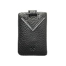 FNDN Minimalist Wallet, Black with black stitching