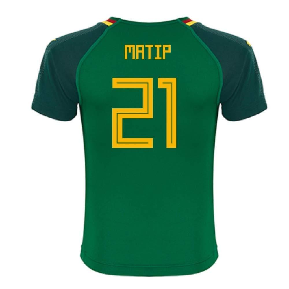 2018-19 Cameroon Home Football Soccer T-Shirt Trikot (Joel Matip 21)