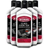 Weiman Glass Cook Top Cleaner and Polish - 10 Ounce [6 Pack] Heavy Duty No Scratch Glass Ceramic Safe Non-Abrasive Stovetop Cooktop Cleaner