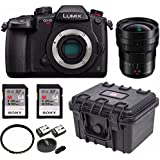 PANASONIC LUMIX GH5s Body C4K Mirrorless Camera w/ Panasonic H-E08018 8-18mm 128GB Bundle