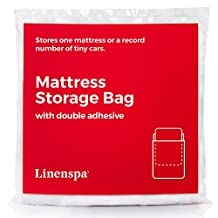 LINENSPA Mattress Storage Bag with Double Adhesive Closure - Fits King and California King