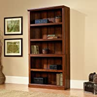 Sauder Select 5 Shelf Bookcase in Washington Cherry Finish