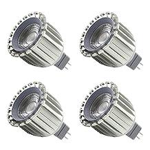 LEDIARY 4 PACK MR16 GU5.3 LED Spotlight 100V-240V 6W Aluminum High Heat Radiation LED Bulb,Cup Shape Bulb,3000K Warm White/6000k Cool White
