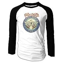 Aerosmith Aero Force One Black Mens Fashion Baseball T Shirts