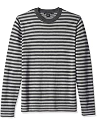 Men's Long Sleeve Stripe Crew Neck Sweater