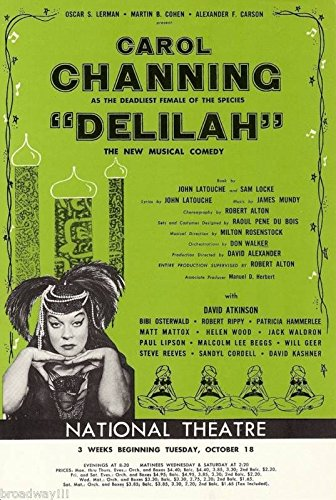 "Carol Channing ""THE VAMP"" (""Delilah"") Bibi Osterwald 1955 Swing Tryout Flyer"