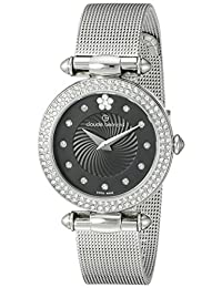 Claude Bernard Women's 20504 3PM NPN2 Dress Code Analog Display Swiss Quartz Silver Watch