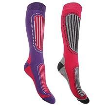 FLOSO Womens/Ladies Ski Socks (Pack Of 2)