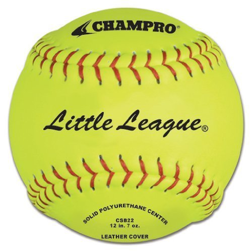 Champro Little League Poly Leder Cover, ROT Set (Optic Gelb, 12-Inch) by Champro