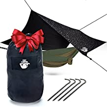Hammock Rain Fly Camping Tarp by Legit Camping - Extra Large Hammock Tarp Fits Double Hammocks - Adventure in Any Weather - Great for Backpacking, Traveling, Hiking - XL 10' - Durable, Easy Set Up