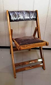ROYAL BHARAT Pagoda Chair - Teakwood Polish