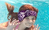 Novos Swimming Headband for Babies, Toddlers, Kids, Adults - Designed to Help Prevent swimmer's Ears - Elastic Swim Hair Guard & Ear Guard - Keep Water Out, Hold Earplugs in Waterproof Band