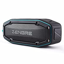 Bluetooth Speakers, ZENBRE D6 2x5W Wireless Portable Speakers V4.1 with Waterproof IPX6, 18h Play-time, Super Loud Sound with Bass Resonator (Blue)