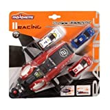 Majorette Racing Car Turbo Booster with 3 Cars (Styles My Vary)