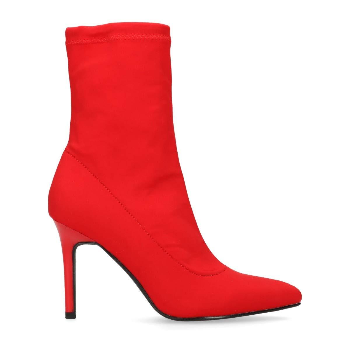 Sacha Schuhe   Damen Stiefeletten   Sock Stiefel   Leder   Farbe  Schwarz