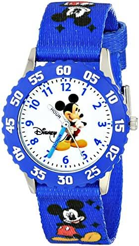 Disney Kids' W000009 Mickey Mouse Stainless Steel Time Teacher Watch