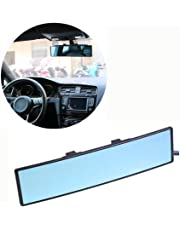 sweetlife Universal Car Rearview Mirror,Anti-glare Blue Mirror | Prevents The Glare And Dazzle | Expands The View | 100% shatterproof | PREMIUM SAFETY PRODUCT Fit for Most Cars