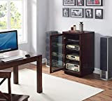 Bell'O Audio/Video Component Cabinet, Dark Espresso