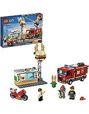 LEGO 60214 City Fire Brand bij het Hamburgerrestaurant, Brandweerauto Speelgoed voor Kinderen vanaf 5 Jaar