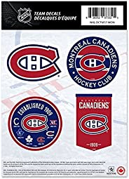 """Montreal Canadiens 5"""" x 7"""" Set of 4 Team Decal Sticker Set"""