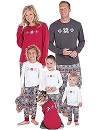 Holiday Nordic Matching Family Pajamas, Red/Gray