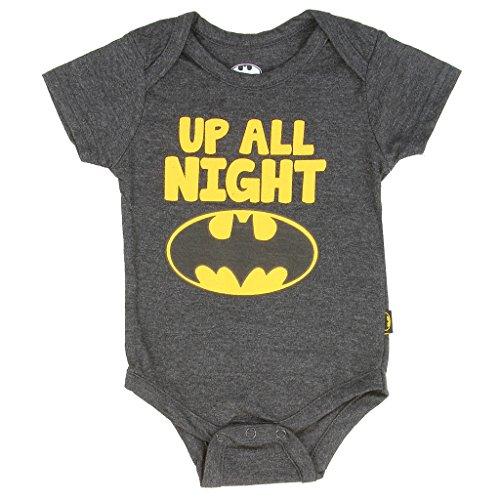 "Batman+Shirts Products : DC Comics Baby Boys' Batman ""Up All Night"" Creeper"