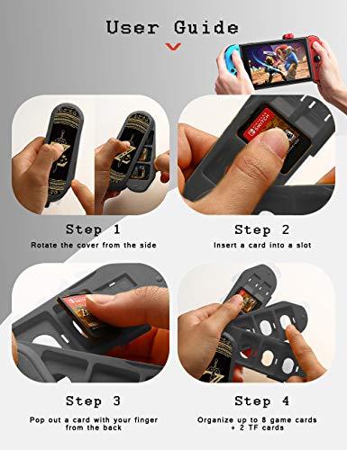 Nintendo Switch Game Card Case, Creative Game Card Holder for Nintendo Switch Games with 8 Slots + 2 TF Slots (Zelda)