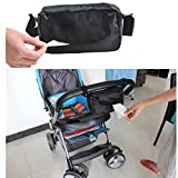 Newborn Baby Black Durable Waterproof Wet Wipes Stroller Bag For Tissue Napkin Storage Pram Accessories Mummy Convenient Supply